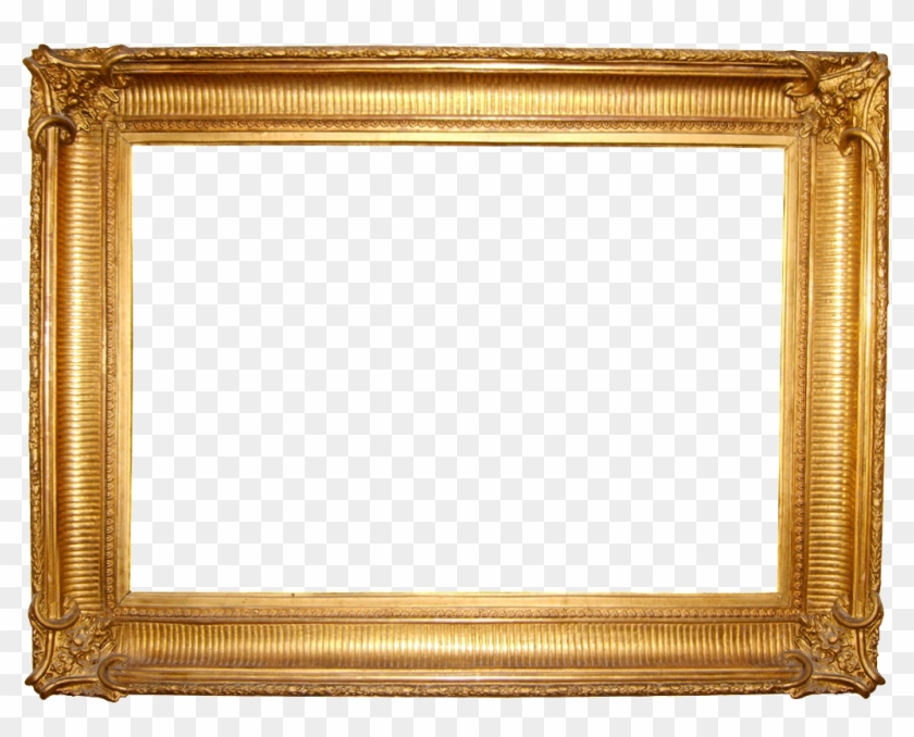 > Frame Wallpapers - Golden Picture Frame Png #477378