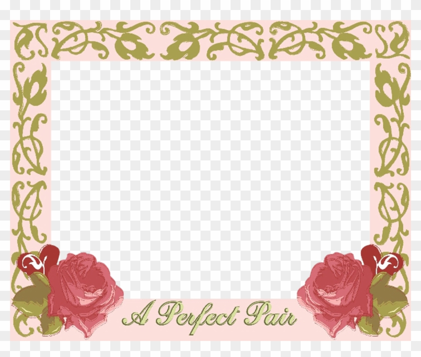 Wedding Invitation Picture Frames Garden Roses - Wedding Frame ...