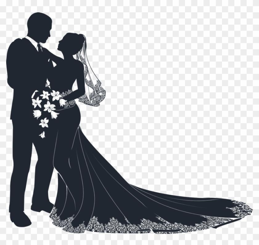 Wedding Dress Clipart Wedding Ceremony - Wedding Couple Vector Png #477752
