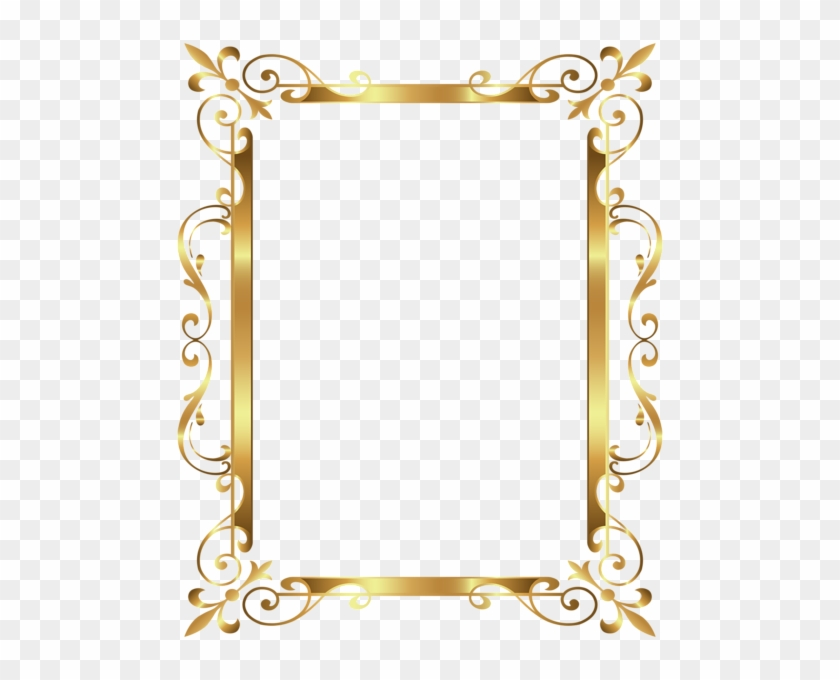 Gold Border Frame Deco Transparent Clip Art Image - Gold Border Transparent Background #477763