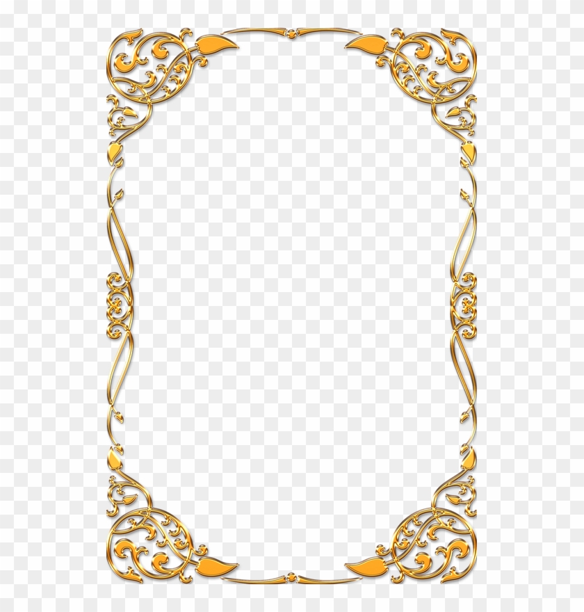 Frame Vintage Gold Ornate - Vintage Transparent Frame Gold #477768