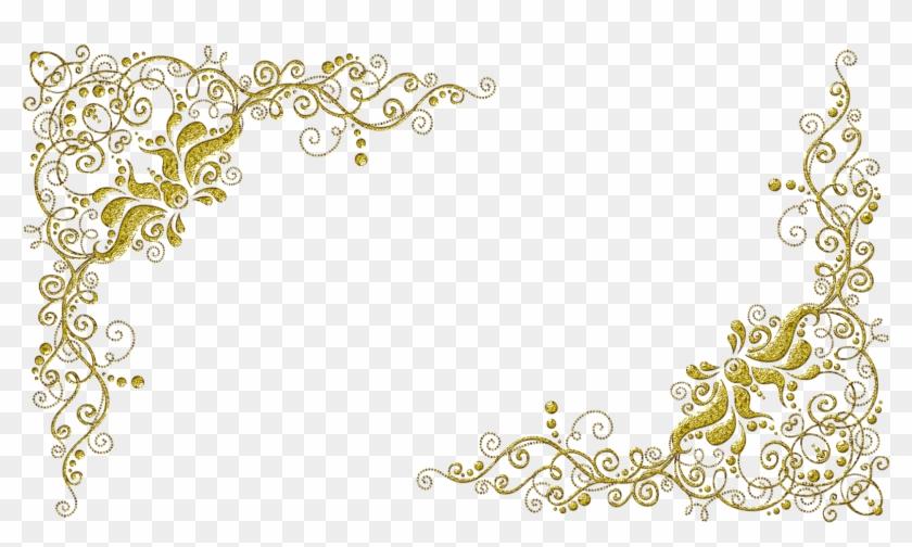 Molduras Com Arabescos Dourados Borda Para Convite De Casamento