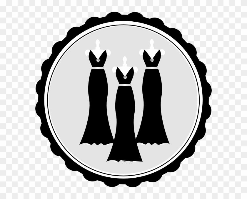 Bridesmaid Dress Clipart - Bridesmaid Clipart Black And White #477798