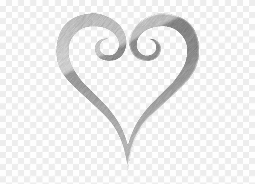 Free Black And White Heart Clipart - Kingdom Hearts Heart Symbol #477889