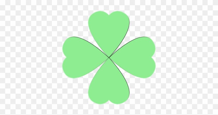 Paste All 4 Hearts Onto The Paper So That They Look - Ideas St Patrick's Day Craft #478131