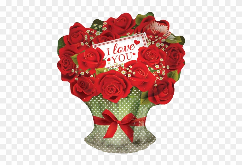 """18"""" I Love You Red Roses Branch Balloon - Love You Rose Bouquet #478767"""