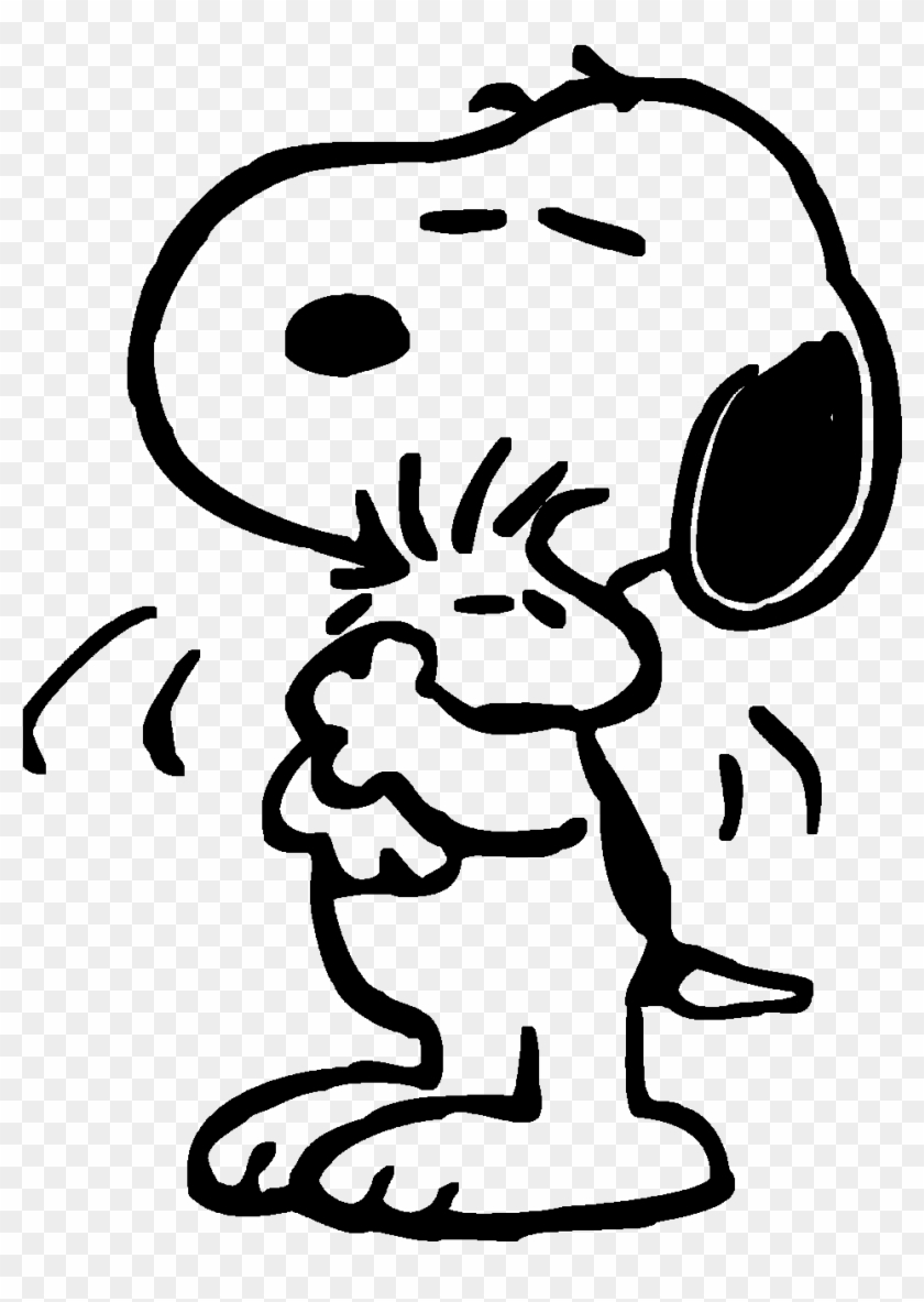 Snoopy Hugs Woodstock By Bradsnoopy97 Snoopy Coloring Page