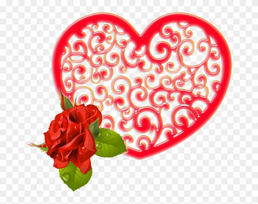 Paper Garden Roses Valentine's Day Heart - Paper Garden Roses Valentine's Day Heart #479528
