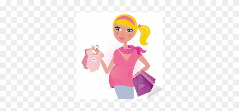 4e31649eae3a Pregnant Mom On Shopping For Child   Baby Girl - Hamile Erkek Bebek ...