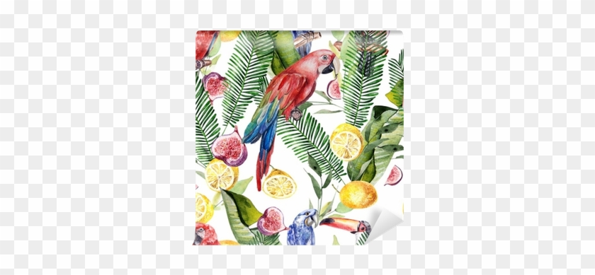 Beautiful Watercolor Seamless, Tropical Jungle Floral - Watercolor Painting #479801