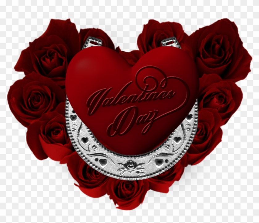 Happy Valentines Day By Vacaliga - Heart Shape Flower Love #480327