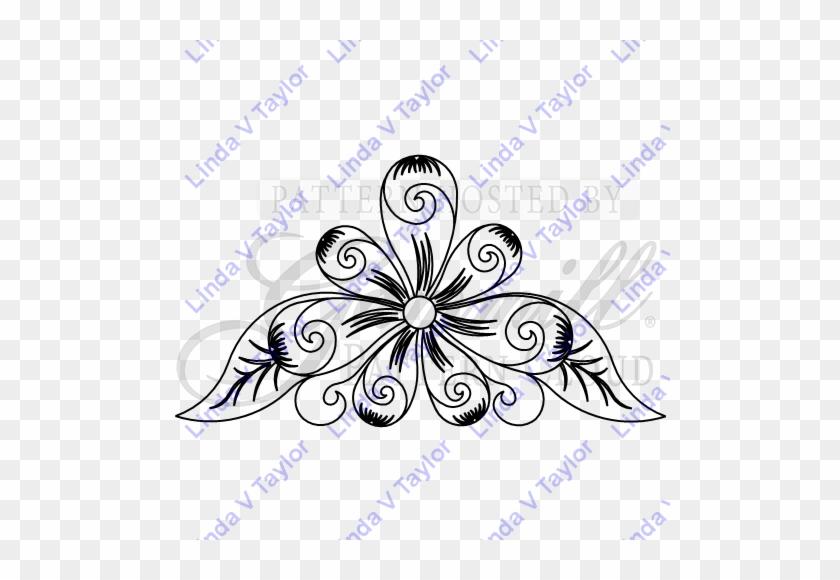 Lt 266 Spinning Fleather Triangle - Floral Design #480416