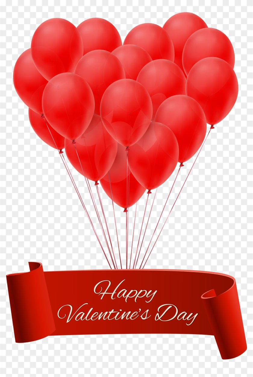 Banners For St - Happy Valentines Day Balloons #480452