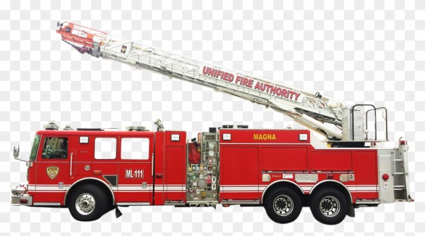 Ladder Fire Truck Png #480531