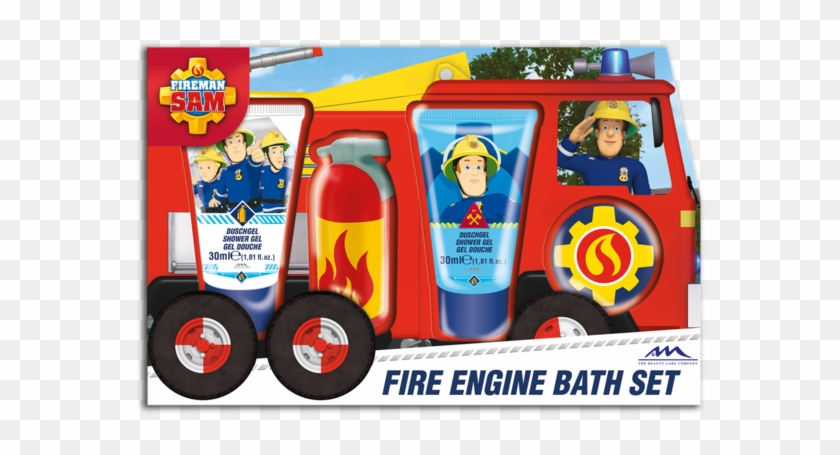 Fireman Sam Fire Engine Bath Set - Fireman Sam Giant Playing Cards (games/puzzles) #480670