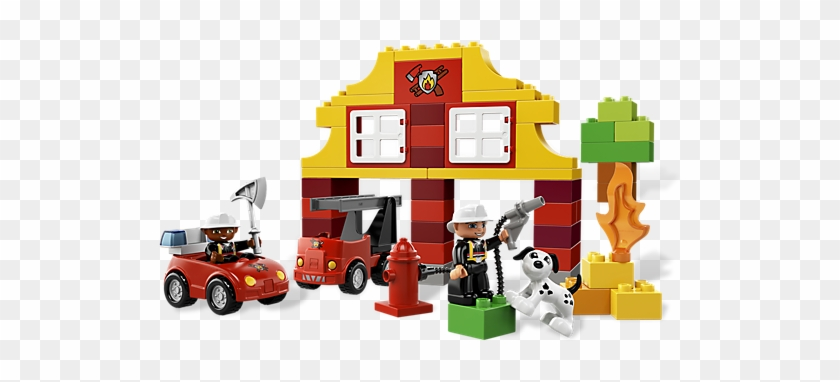 Down At The Lego Duplo Fire Station The Brave Firefighters - Lego Duplo My First Fire Station 6138 #480672