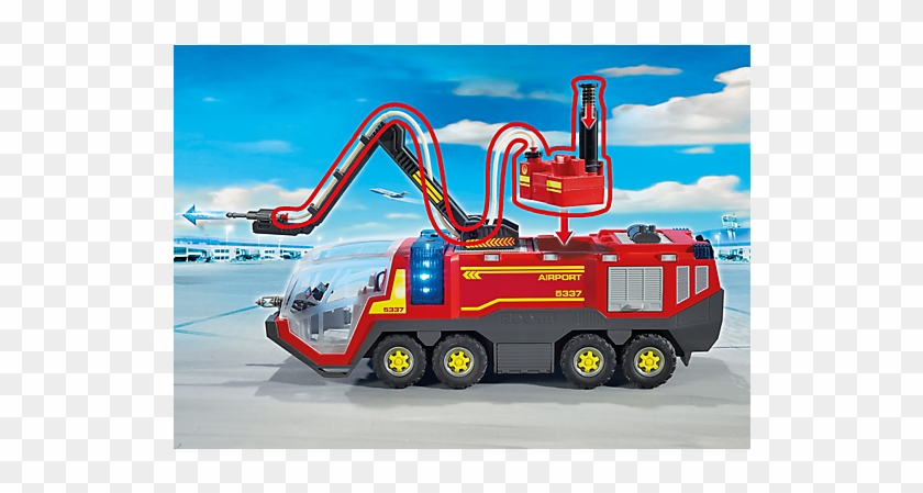 Playmobil 5337 Airport Fire Engine With Lights And