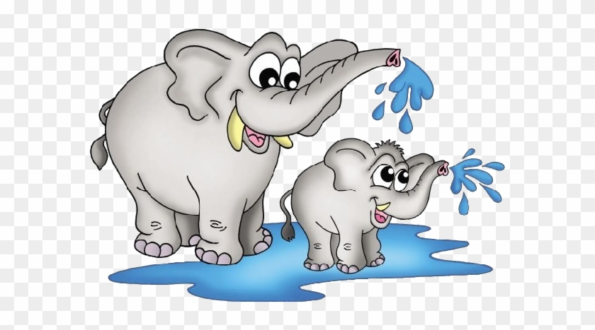 Mother And Baby Elephant Clipart - Elephant With Baby Clipart #481165