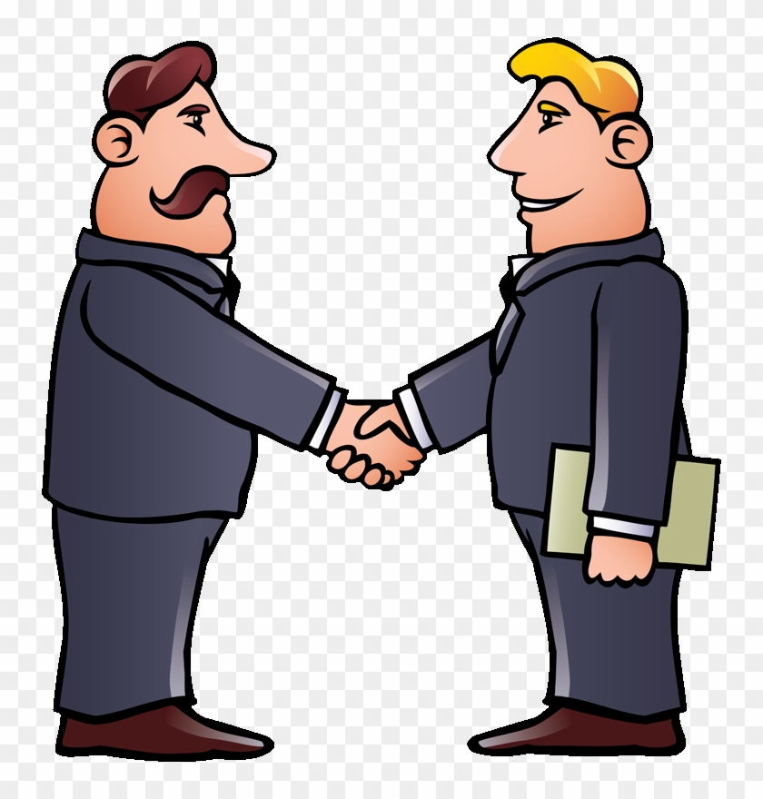 Home - Two Men Shaking Hands Clipart #481554