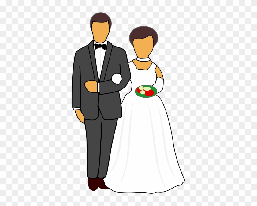 Couple Getting Married Clipart - Wedding Couple Clipart #481603