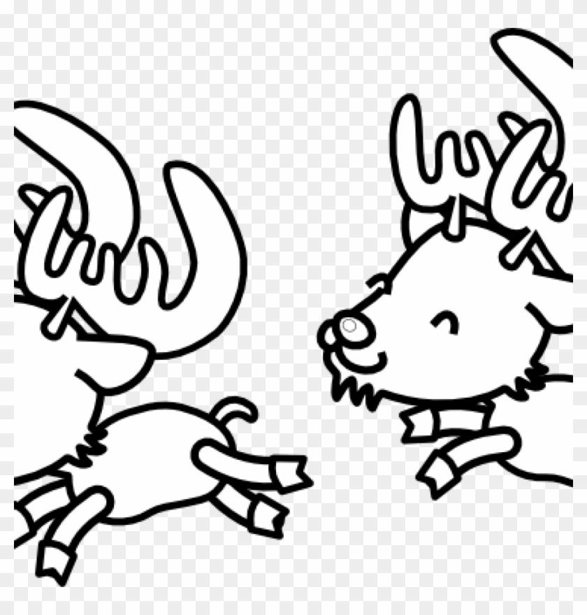 Christmas Black And White Clipart Reindeer Clipart - Santa Clauss ...