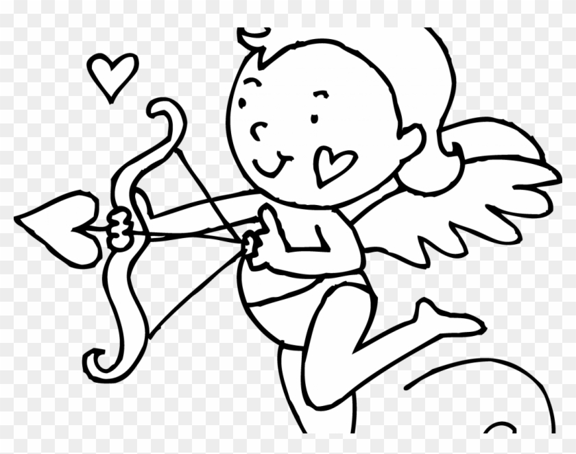 Adorable Cupid Valentine Coloring Page Pages Printable