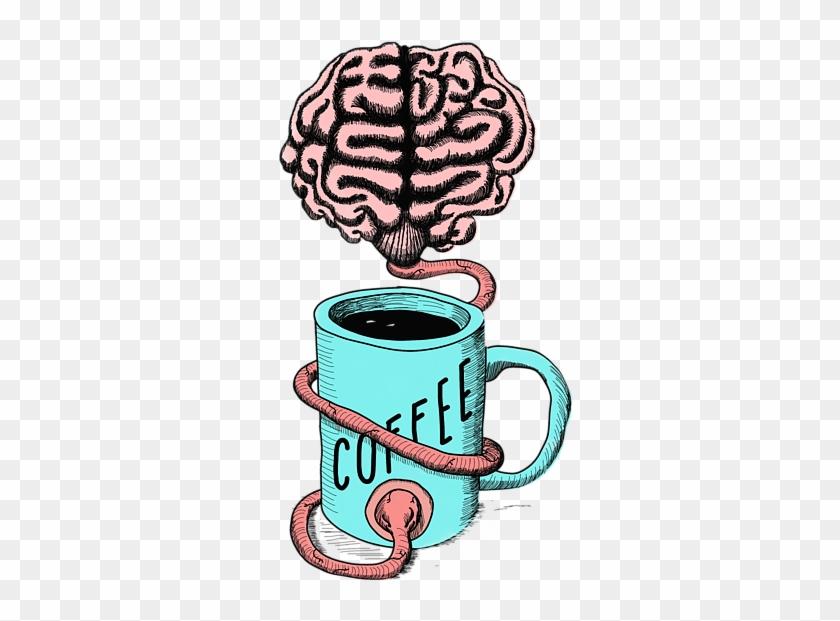 Bleed Area May Not Be Visible - Zazzle Kaffee Für Das Gehirn. Lustige Kaffeeillustration #481891