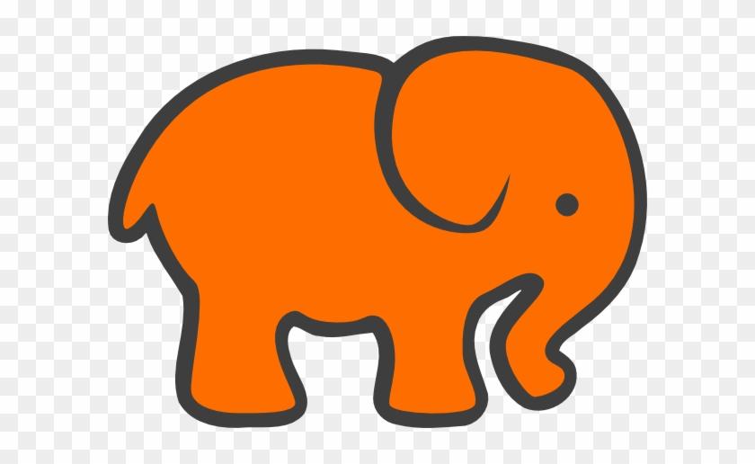 Orange And Grey Elephant #482013