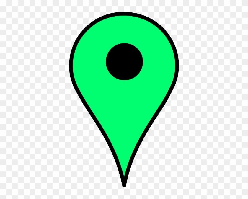 Map Pin Green Clip Art At Clker - Google Maps Green Pin #482276