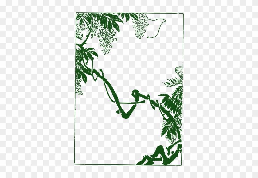 Green Forest Frame - Asian Frame Png #482302