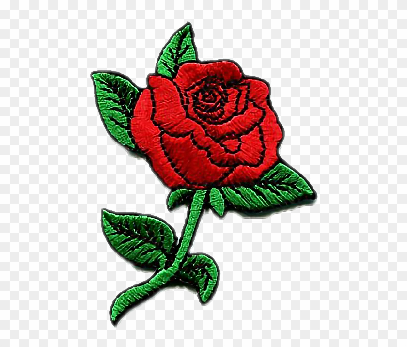 rose patch tumblr aesthetic cute kawaii pastel red rose patch