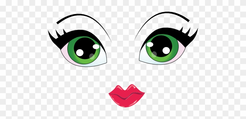 Pretty Face Smiley Emoticon Girl Cartoon Eyes Png Free Transparent Png Clipart Images Download