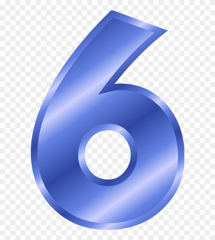 Blue Clipart Number 6 - Number 6 Color Blue #483235