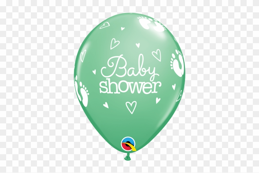 "Baby Shower Footprints & Hearts 11"" - 10 Assorted Baby Shower Footprints Latex Balloons #483353"