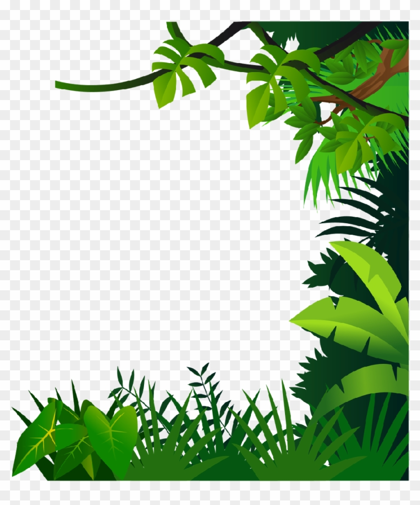 Baby Girl Shower Border Clipart For Kids - Jungle Frame #483405