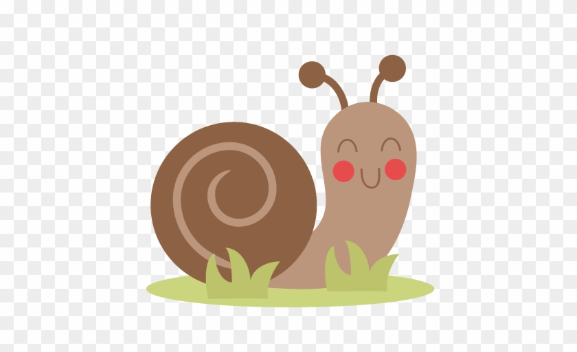 Happy Snail Svg Cutting File For Scrapbooking Snail - Cute Snail Clipart #483454
