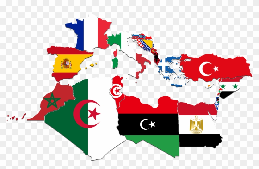 World Map With Country Names And Flags Mediterannean - Flags ...