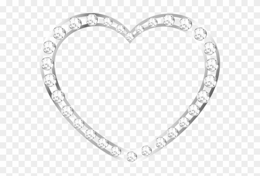Silver Heart Frame Png - Free Transparent PNG Clipart Images Download
