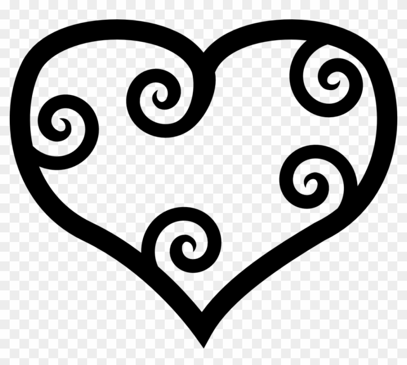 New Double Hearts Clip Art Medium Size - Mothers Day Coloring Clip Art #483634