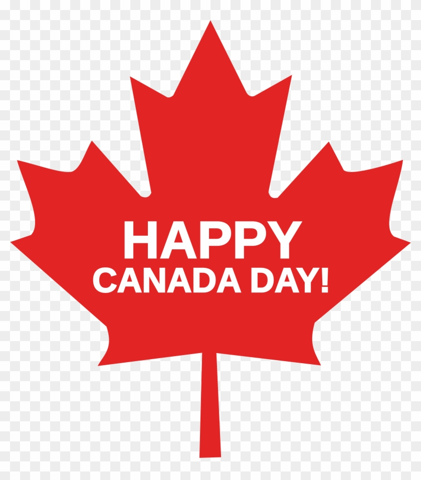Free Clipart Of A Happy Canada Day Maple Leaf - Canada Flag Maple Leaf #484157