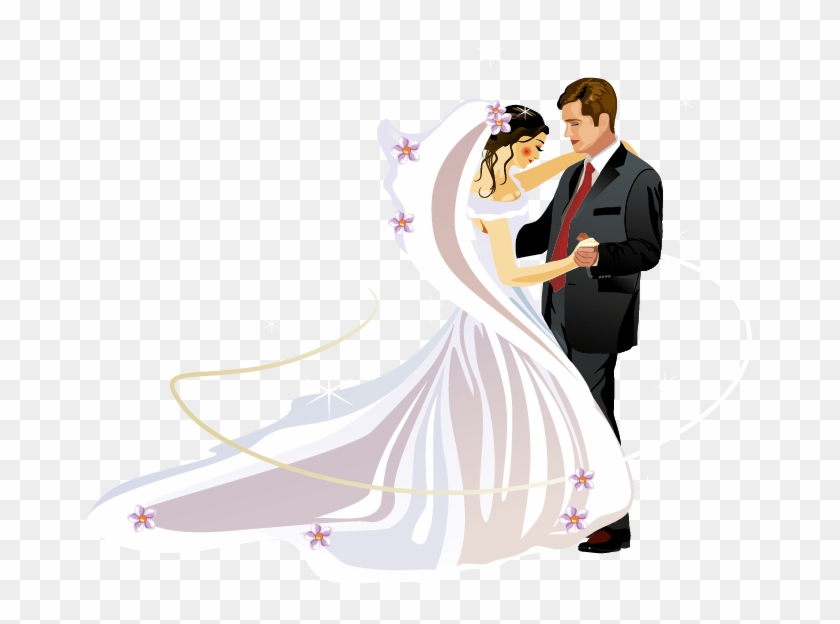 Wedding Invitation Bridegroom Clip Art Groom And Bride Vector 484417