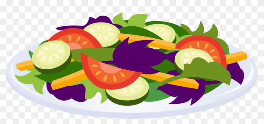 Vegetable Plate Clipart - Salad Clip Art #484483