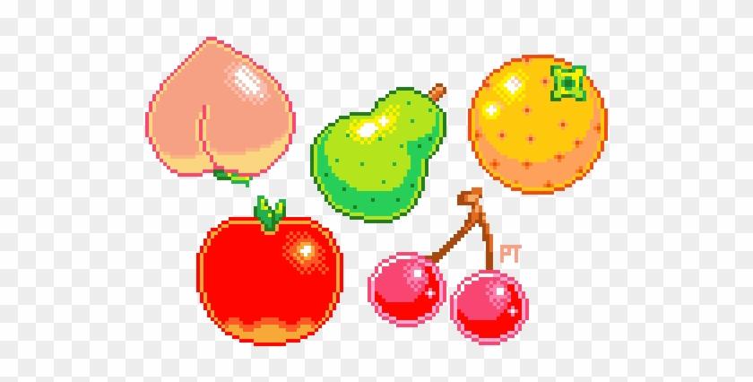 Fruits N Vegetables Clipart Peach Fruit Pixel Art Free Transparent Png Clipart Images Download