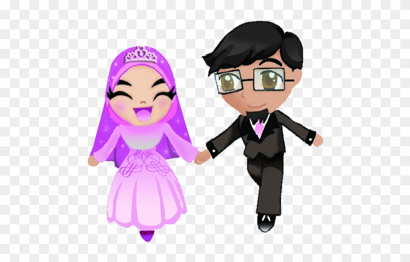 Wedding Couple 1 By Salcybercat Muslim Wedding Cartoon Png Free Transparent Png Clipart Images Download