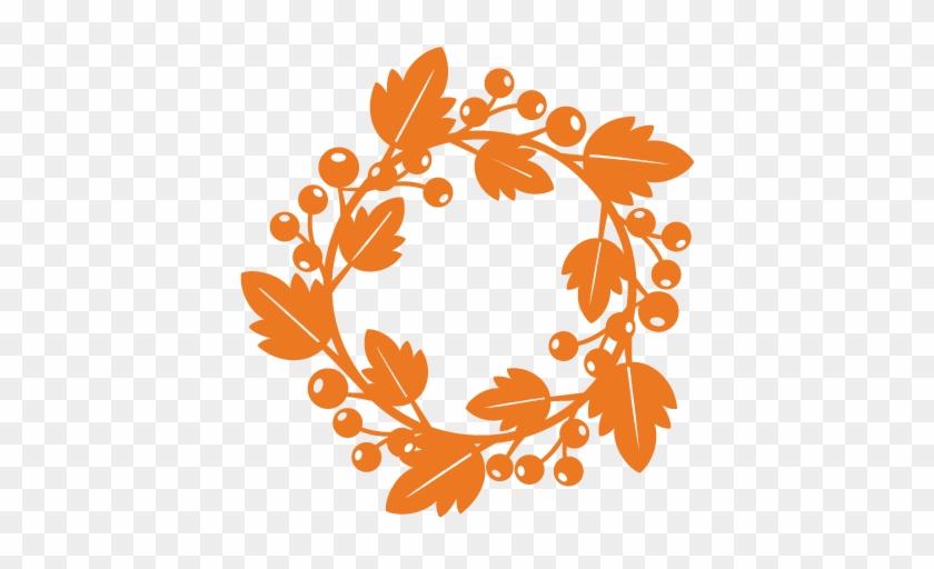 Fall Wreath Svg Scrapbook Cut File Cute Clipart Files - Cricut #484999