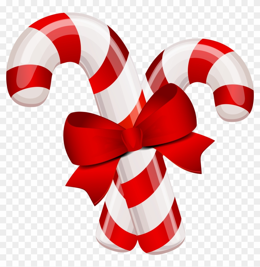 Christmas Classic Candy Canes Png Clipart Image - Christmas Candy Cane Clipart #485084