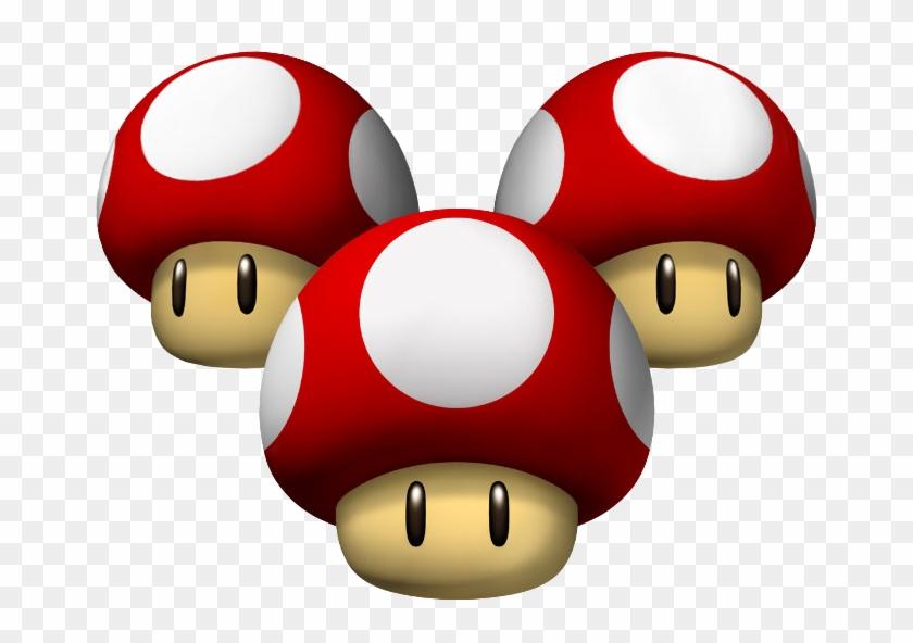 Triple Mushrooms Artwork Wii Mario Kart Mushroom Free