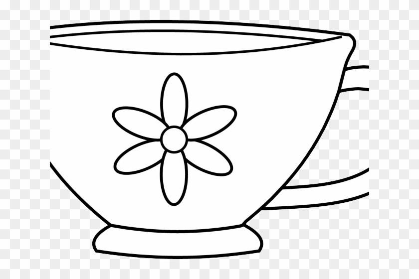 Drawn Tea Cup Clip Art - Tea Cup Coloring Page #485617