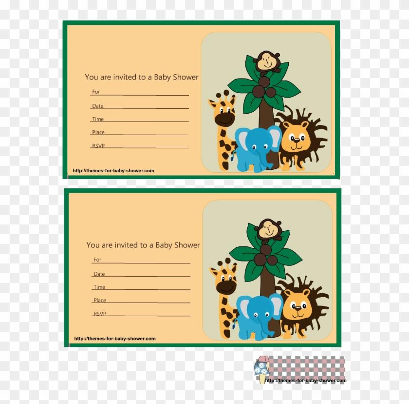 Adorable Safari Baby Shower Invitations - Invitaciones Para Imprimir De Baby Shower Safari #486301