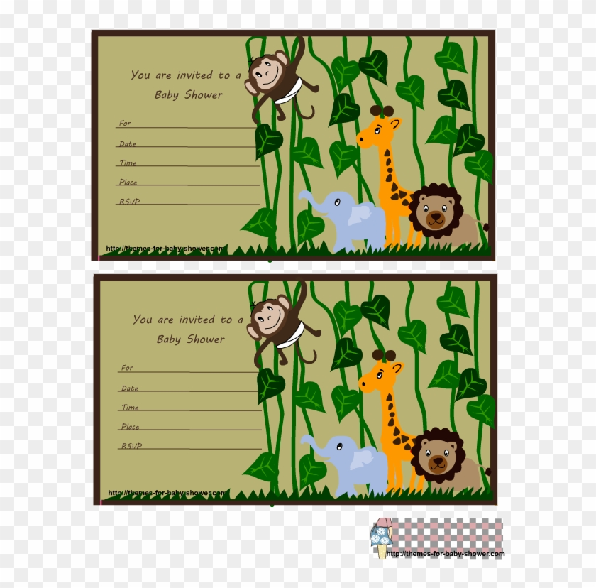 Free Printable Baby Shower Invitations Jungle Theme - Baby Shower Invitations Jungle Theme #486305